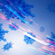 Snowflakes in colorful abstract lines — Stock Photo