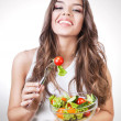 Royalty-Free Stock Photo: Happy healthy woman with salad