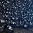 Tires background — Stock Photo