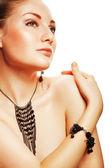 Vackra attraktiv kvinna med accessorize — Stockfoto