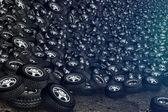 Tires background — Stock Photo
