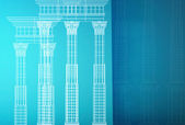 Colonnade background — Stock Photo