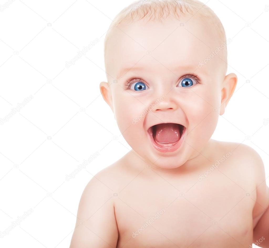 Happy face funny baby