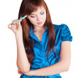 Businesswoman is thinking - Stock Photo