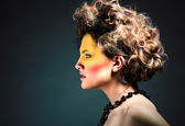 Woman with art make up — Stock Photo