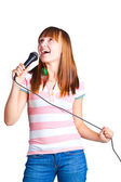 Girl Singing — Stock Photo