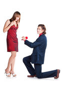 Proposal to woman — Foto Stock