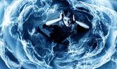 Woman in whirlpool — Stock Photo