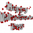 happy Valentine Tag 3D-Text — Stockfoto #18834783