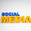 Royalty-Free Stock Photo: 3d social media text