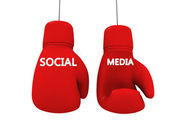Social media like game — Stock Photo