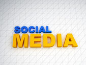 3d social media text — Stock Photo