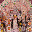 Decorated goddess durga in durga puja — Stock Photo