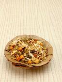 Namkeen in patta bowl — Stock Photo