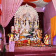 Goddess durga pandal in durga puja — Stock Photo #38580099