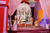 Goddess durga pandal in durga puja — Stock Photo