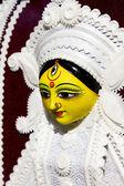 Goddess durga statue in surajkund fair — Stock Photo