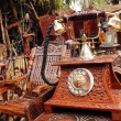 Stock Photo: SURJAJKUND FAIR, HARYANA - FEB 12 : antique wooden telephone for