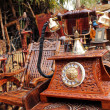 SURJAJKUND FAIR, HARYANA - FEB 12 : antique wooden telephone for — Stock Photo