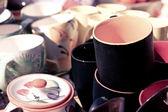 Ceramic cup in shop, retro style — Stock Photo