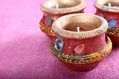 Indian decorative candle pot — Stok fotoğraf