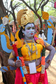 SURJAJKUND FAIR, HARYANA - FEB 12 : artist in vishnu avatar at s — Stock Photo