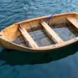 A photo of a rowBoat on the serene water - Stock Photo