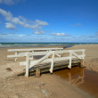 Stock Photo: Photo of Small river bridge at beach, Jutland, Denmark