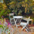 A photo of a colorful Danish summer garden — Stock Photo #13146495