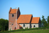 A photo of a small Danish church — Stock Photo