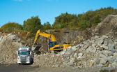 A photo of a granite quarry — Stock Photo