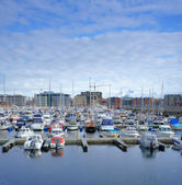 A harbor photo from Norwegian city Bodo, north of the polar circle — Zdjęcie stockowe