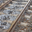 A photo of railway tracks - Stock Photo