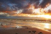 A photo of sunset and beach — Stock Photo