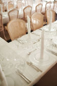 A photo of a table - formal dinner — Stock Photo