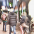 Stock Photo: Lens blurred image of city life