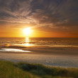 Stock Photo: Photo of sunset at beach - Jutland, Denmark