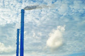 A photo of chimneys and smoke — Stock Photo