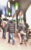 A lens blurred image of city life — Stock Photo