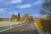 A photo of country road in early winter — Stockfoto