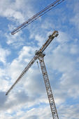 A photo of a hoisting crane — Stock Photo
