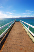 A photo of Jetty on a lake — Stock Photo