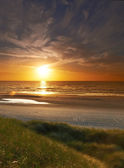 A photo of sunset at the beach - Jutland, Denmark — Stock Photo