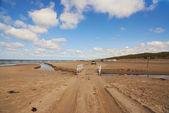 A photo a Road on the beach - Jutland, Denmark — Stock Photo