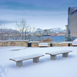 City scape of Bodo, city north of the Polar circle, Norway — ストック写真
