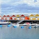 A photo of Harbor houses in Kjerringoy, Norway — Stock Photo #19771111