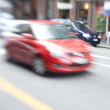 A photo of motion blurred city life — Photo