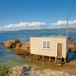 A photo of fishing house - New Zealand — Stock Photo #19779441