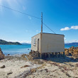 A photo of fishing house - New Zealand — Stock Photo