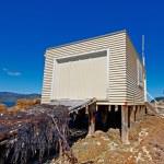 A photo of fishing house - New Zealand — Stock Photo